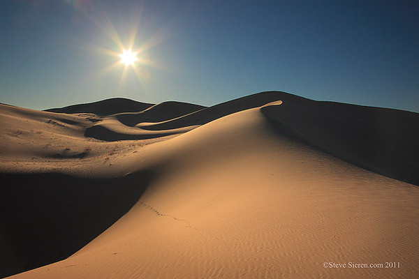 A large dune field free of photographers outside the park