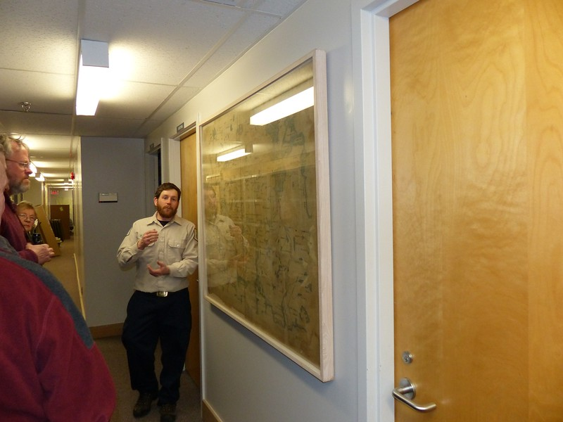 David LeGros talking about old map of the Park