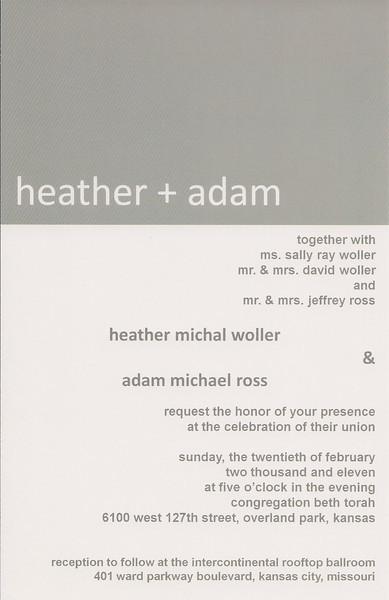 Heather's Wedding Planning