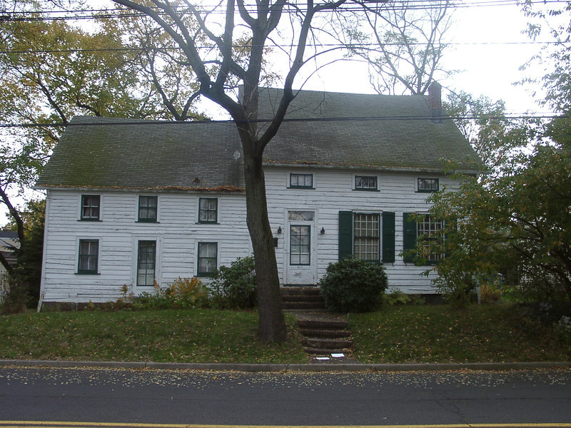 The Miller Farm House 2005. The left hand side of the house was built in the 1730's. The right side was built in the 1830's. This house was torn down in 2006 by a developer in order to build two houses on it's double lot..