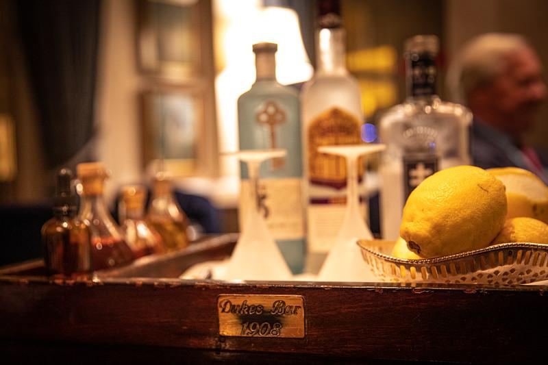 The famous martini cart.