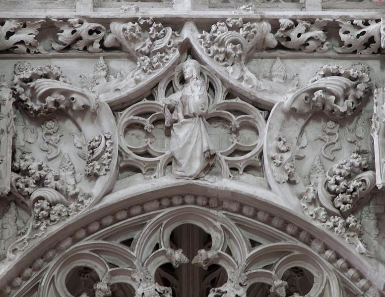 Troyes - Sainte-Madeleine Church - Choir Screen Detail - Christ