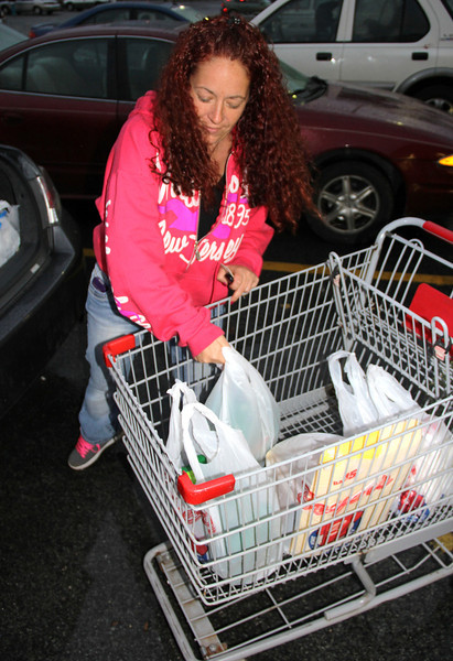 Woman Loading Shopping Cart, Prior to Hurricane, Boyer's Market, Tamaqua (10-28-2012)