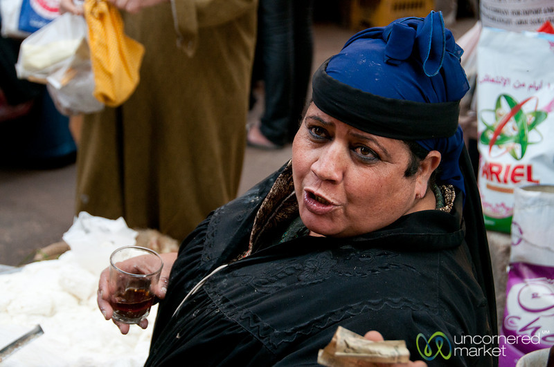 Egyptian Vendor at Market in Alexandria, Egypt