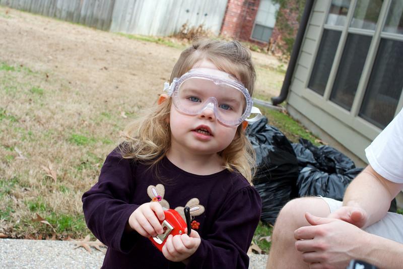 Goggles - CHECK! Tape measure - CHECK!