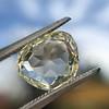 3.46ct Portrait Rose Cut Trapezoid Diamond GIA UV VVS2 24