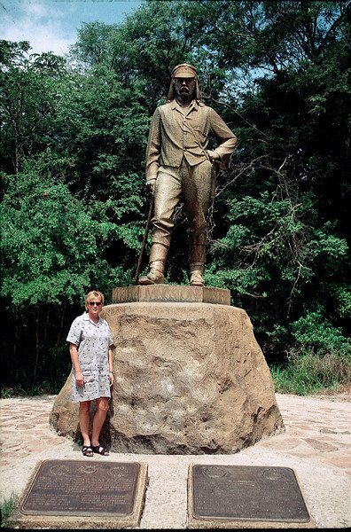 David Livingston monument at Victoria Falls, Zimbabwe