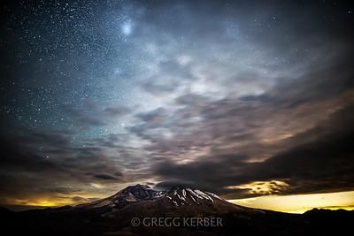 Milky Way & Mt St Helens