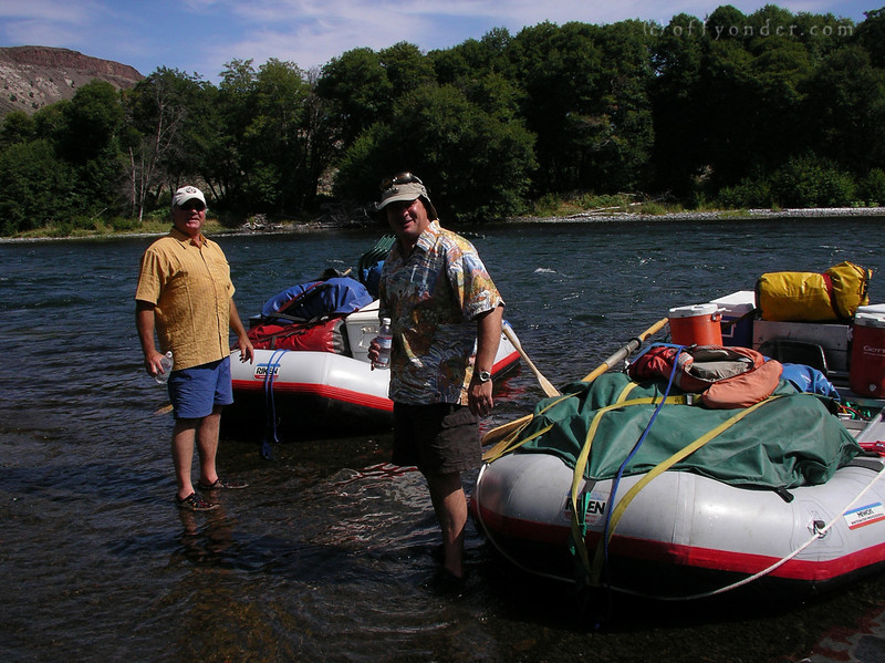 But loading the rafts is no problem for our other guides, Eddie and Dave.