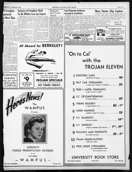Daily Trojan, Vol. 31, No. 28, October 24, 1939