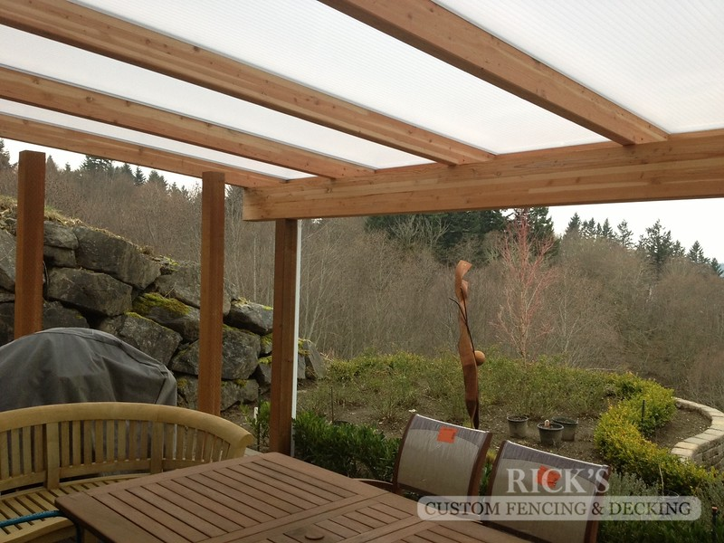 5059 - Wood-Framed Patio Cover with Acrylite Paneling