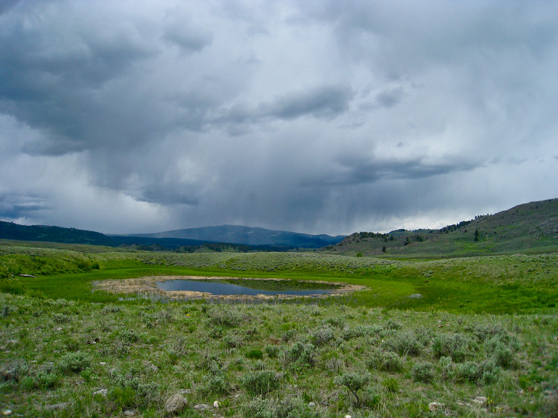 Rain storm headed our way, near Slough Creek