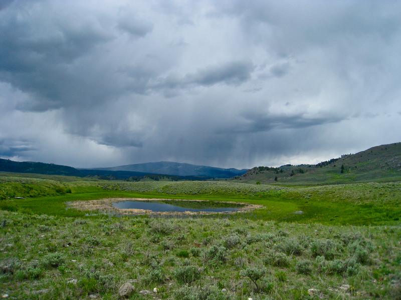 Rain storm headed our way, near Slough Creek