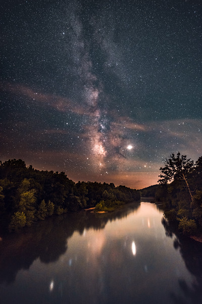 The Milky Way reflecting on the Meramec River