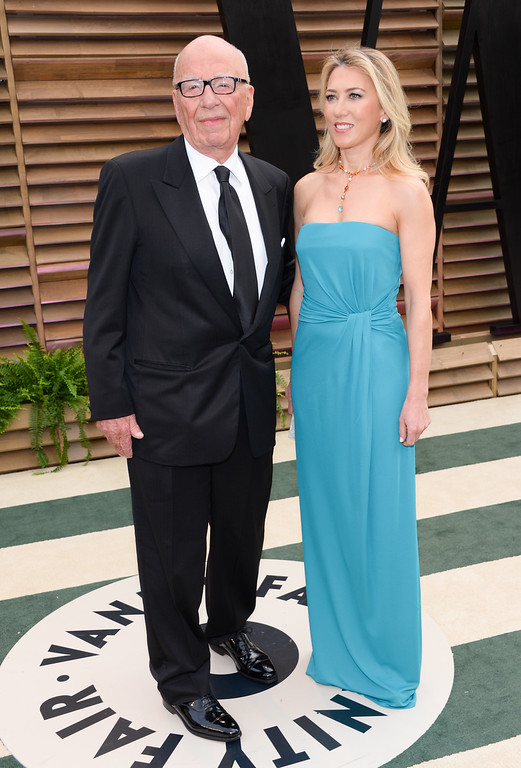 . Media mogul Rupert Murdoch and guest Juliet de Baubigny attend the 2014 Vanity Fair Oscar Party on Sunday, March 2, 2014, in West Hollywood, Calif. (Photo by Evan Agostini/Invision/AP)