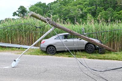 Mastic Car Vs Pole Riviera Dr. {2021.06.13}