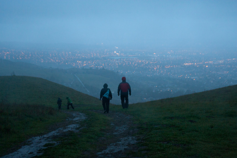 The last time we had anything like a view; the fog shortly became too thick.