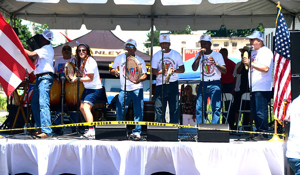 7/21/2018 Mike Orazzi | Staff Manteniendo Nuestra Cultura performs during the annual Puerto Rican Festival held on High Street in New Britain Saturday.