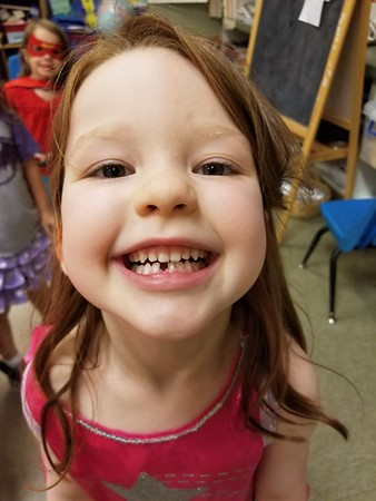 Ellie's first lost tooth 5.9.18
