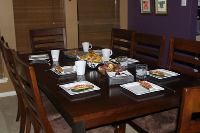Sis.Tran prepared a really nice dinner for us Friday night.