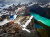 """""""Summit Hues"""" III - Scenes from a rare ascent of Pulpit Peak, Banff National Park, Alberta, Canada."""