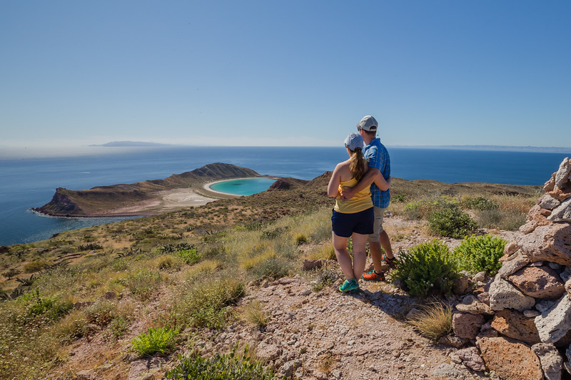 Lina and David Stock Jr (Americas Adventure Travel Couple) in Sea of Cortez Mexico