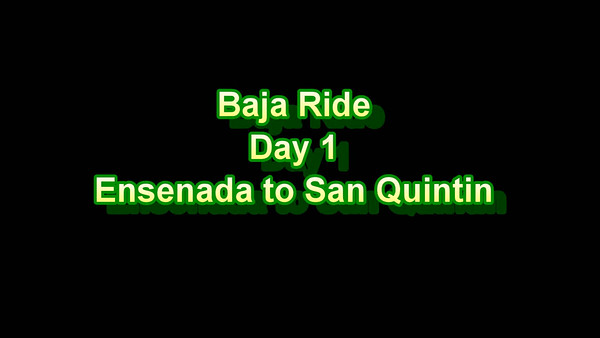 Baja Dirt Bike Ride - Videos