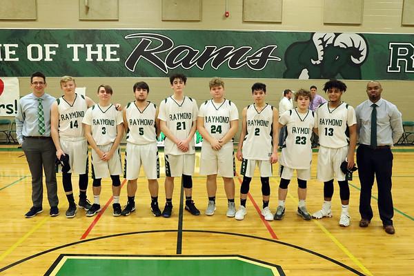 Raymond Boys Basketball Senior Night (Feb. 24, 2020)