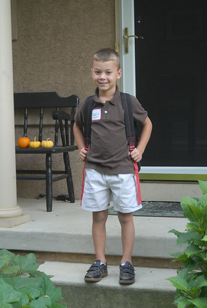 First Day of School '08 - Owen's First ever