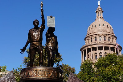 Texas African American History Memorial Monument at Texas Capitol