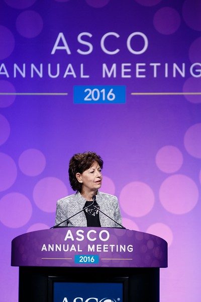 Lynn Schuchter, MD, during Plenary Session including Science of Oncology Award and Lecture