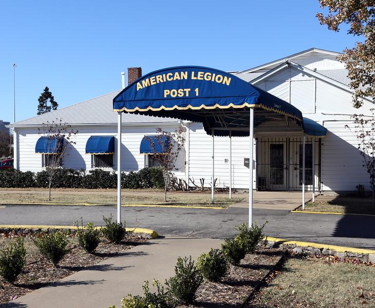 The American Legion Post 1 building near downtown tulsa.