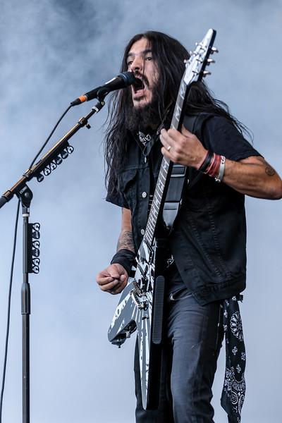Machine Head performing at the Rockstar Energy Drink Mayhem Festival 2011