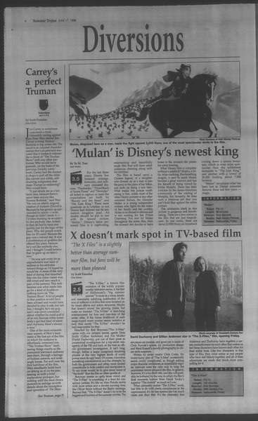 Summer Trojan, Vol. 134, No. 6, June 17, 1998