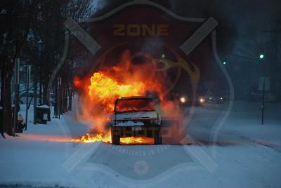Roosevelt F.D. Car Fire Nassau Rd. 3/2/09