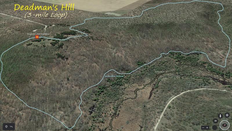 Deadman's Hill (3-mile Loop) Hike Route Map
