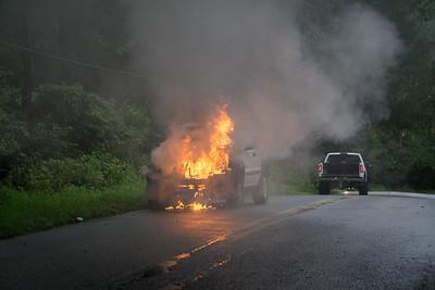S Caln Rd Car Fire - East Fallowfield