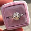 1.19ctw Old European Cut Diamond Halo Ring by A Jaffe 16