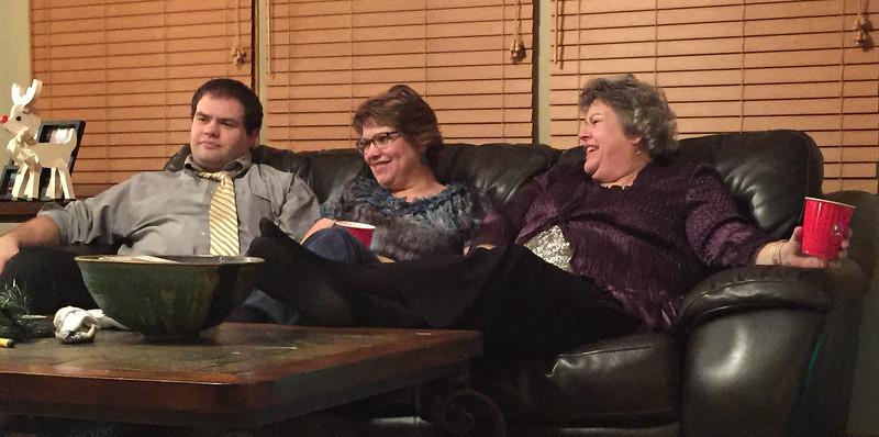 John Robert, Fran, Margie  - Mom's 80th Birthday Celebration on January 28, 2017