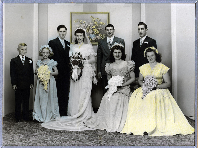 Wedding party of Frank Clark & Dorothy Foote