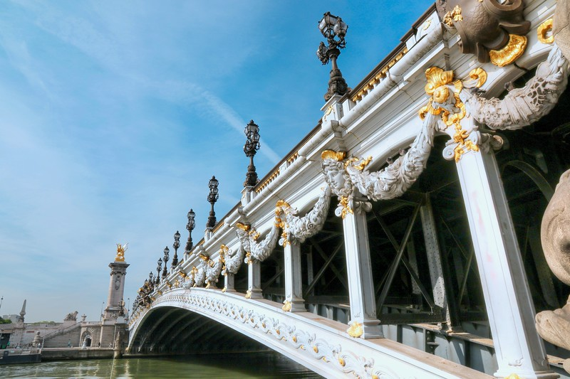 Pont Alexandre III - regarded as the most ornate, extravagant bridge in the city, built between 1896 and 1900