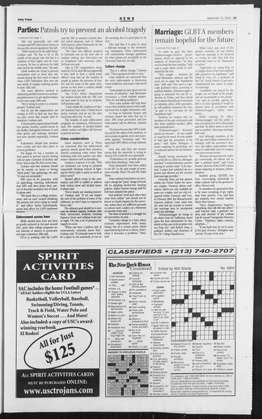 Daily Trojan, Vol. 156, No. 17, September 15, 2005