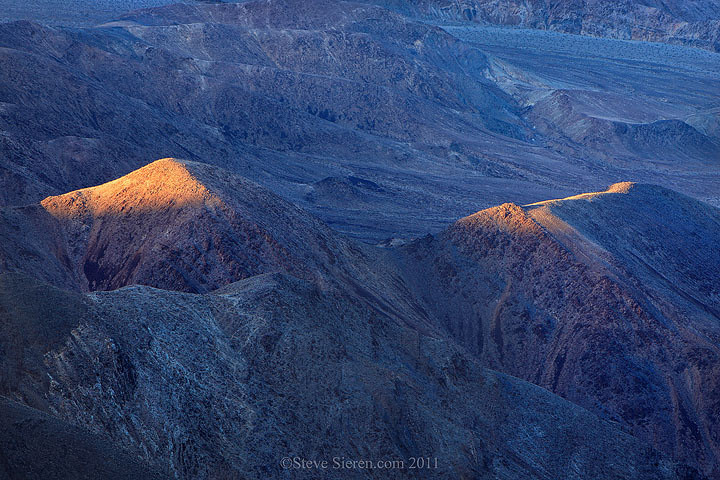 Light Pyramids  Foothils of the Panamint Mountains in Death Valley.