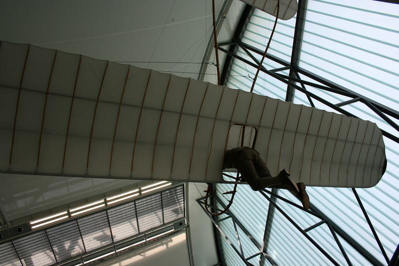 Hang gliding.