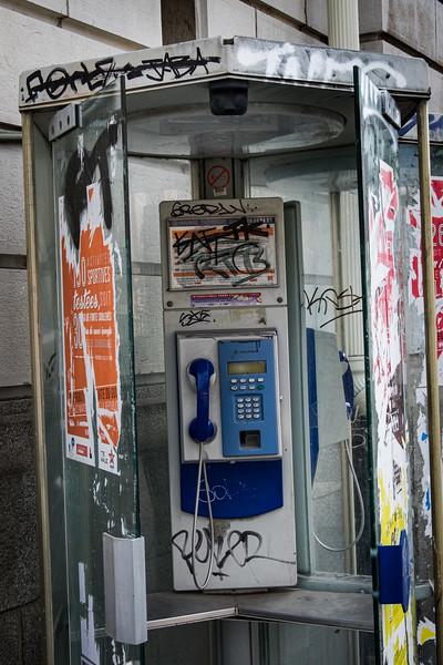 Vandalised Telephone Kiosk