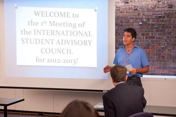 10/23/12 International Student Advisory Council Presentations