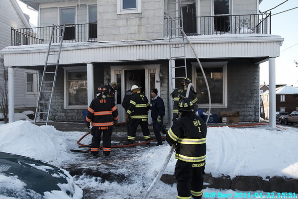 WSF Hazleton Fire Laurel St. 1/22/11
