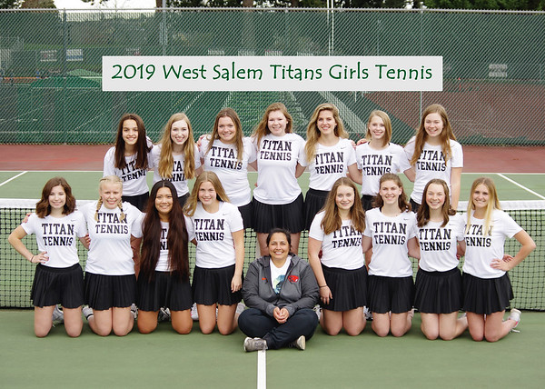 2019 West Salem Titans Girls Tennis