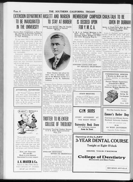 The Southern California Trojan, Vol. 8, No. 8, September 29, 1916
