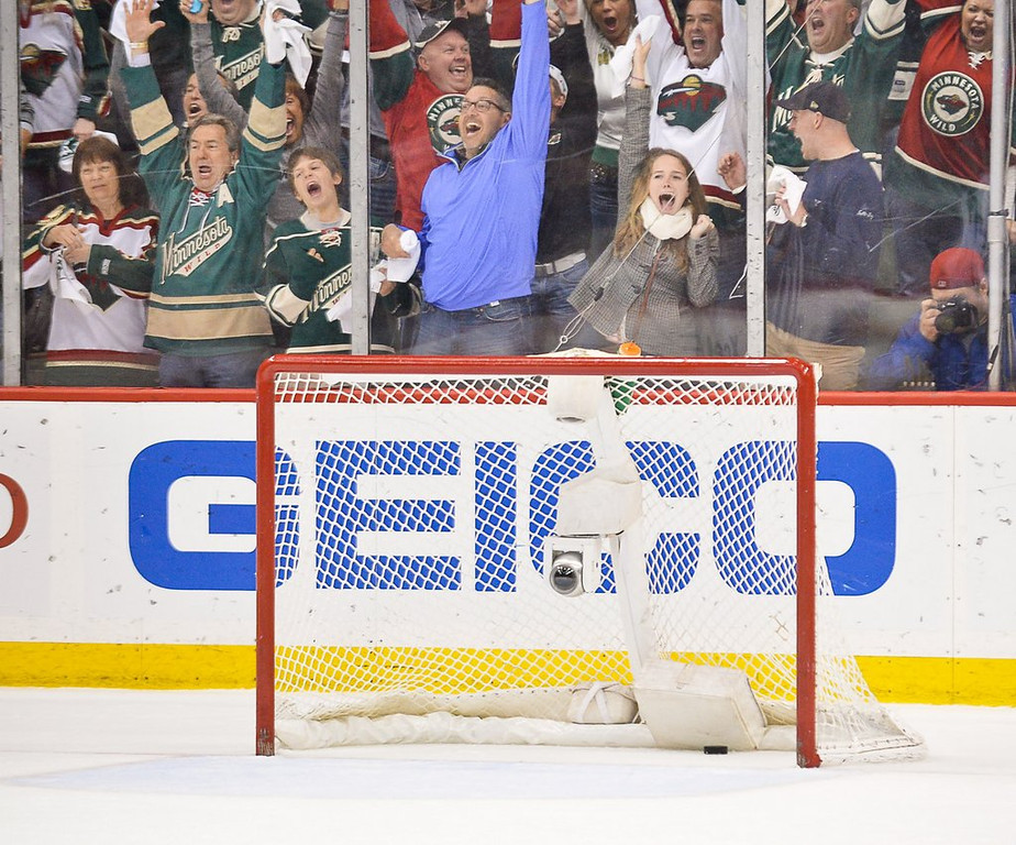""". <p><b> Fans attending Monday night�s NHL playoff game at Xcel Energy Center were thrilled to death as they watched their Wild � </b> <p> A. Tie the series at 3-3 <p> B. Outplay Colorado for the fifth time in six games <p> C. Remember how to shoot a puck into an empty net <p><b><a href=\'http://www.twincities.com/sports/ci_25656731/wild-5-avalanche-2-parise-goal-helps-minnesota\' target=\""""_blank\""""> LINK </a></b> <p>   (Pioneer Press: Ben Garvin)"""